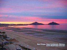 Sunset over San Felipe, Baja California!