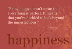 Looking past imperfections