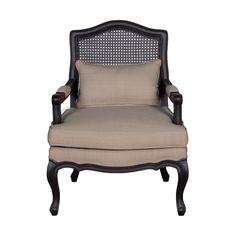 (LS) Adele Occassional Chair With Wood Frame -Vintage Black Frame (28x28x38,4) - occasional - Jeffan International
