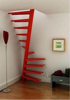 voor de vaste trap naar zolder, mooie oplossing