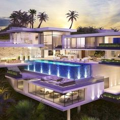 Residential and Commercial Architecture. Luxury Homes Design Dream Home Design, Modern House Design, Dream Mansion, Mansion Houses, Luxury Homes Dream Houses, Luxury Life, Dream Homes, Fancy Houses, Modern Mansion