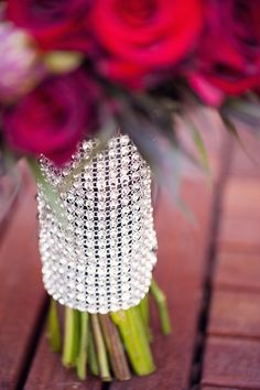 Rhinestone Bouquet Wrap ~ Photography by weheartphotography.com, Floral Design ~ botanicallure.com