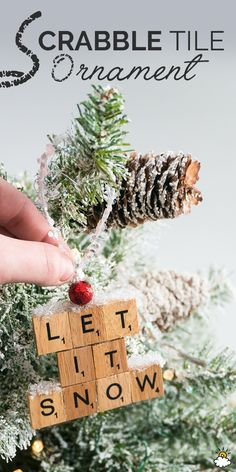 Decorate Your Christmas Tree With This Fun And Easy Diy Scrabble Ornament