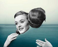 #collage #love #blue in Portfolio: Collage+Illustration