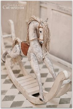 rocking horse by Cat-arzyna Antique Rocking Horse, Rocking Horse Toy, Vintage Horse, Objets Antiques, Tableaux Vivants, Equestrian Decor, Wooden Horse, We Will Rock You, Carousel Horses
