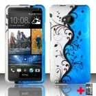 Htc One M7 Blue Vines Rubberized Design Mobile Phone Cover   Screen Protector, From [Triple8Accessories]
