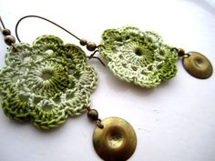 Bohemian crochet flower earrings from Bohemian Hooks by DaWanda.com