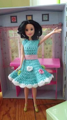tuto robe printanière barbie