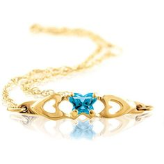10kt Yellow gold Children's Birthstone Bracelet