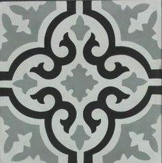 Portland Direct Tile and Marble - Painted Floor Tile Stencil Patterns, Stencil Designs, Tile Patterns, Ceramic Floor Tiles, Mosaic Tiles, Porcelain Tile, Arabesque, Black And White Tiles, Red Black