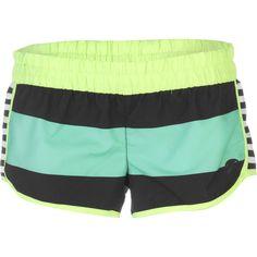 Hurley Supersuede Printed Beachrider Board Short - Women's Menta Bold Stripe