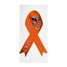 Someone I Love has CRPS Orange Ribbon Beach Towel