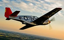 The restored P-51 Mustang associated with the Tuskegee Airmen, now flown by Red Tail Project as described in Red Tail Reborn