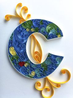 Items similar to Quilled Monogramed Letters on Etsy