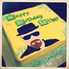 Breaking Bad inspired birthday cake