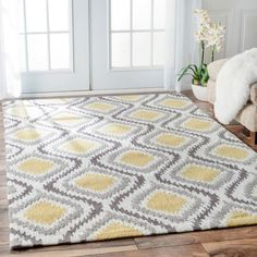 nuLOOM Handmade Trellis Modern Ikat Wool Area Rug (7'6 x 9'6) THERE IS A GREY OPTION