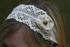 @Carrie Looy I learned how to crochet lace yesterday :)  So my first attempt is a headband (of course)