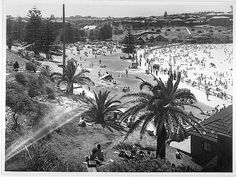 Old photo of the beach taken in 1959.