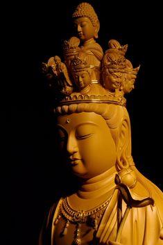 十一面観音立像 Buddha Temple, Buddha Art, Chinese Buddha, Chinese Art, Japanese Buddhism, Shiva, Arte Tribal, Gautama Buddha, Guanyin