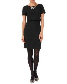 Dresses | Black Delphine Textured Dress | Phase Eight