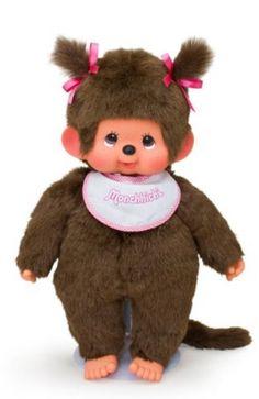 Sekiguchi Monchhichi Standard tails girl L Pink Ribbon stuffed toy height 45cm