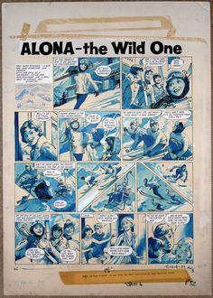 ALONA THE WILD ONE ART BY LESLIE OTWAY Princess Tina #98 Jan 4 196X