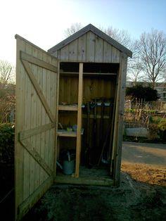 Allotment gardentool shed, tuinkast voor gereedschap moestuin