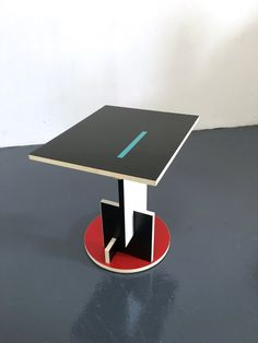 Paire Gerrit Rietveld Schroeder Côté Extrémité Tables Par 20cModern