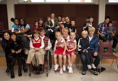 Glee Cast with their minis! Where's Dianna?