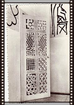 The magnificent confessional doorway in MATISSE'S French Chapel