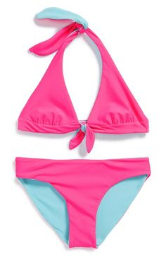 Tucker + Tate Reversible Two-Piece Swimsuit (Big Girls) available at #Nordstrom