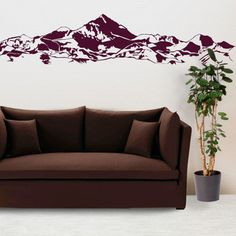 eu.Fab.com | Mountains Wall Decal Purple