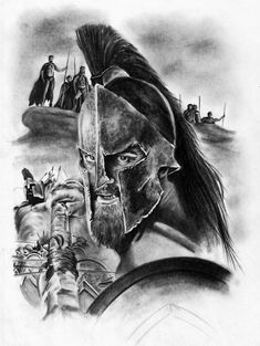 Résultat d'images pour Spartan Warrior Skull Drawings Body Art Tattoos, Tattoo Drawings, Sleeve Tattoos, Cool Tattoos, Skull Drawings, Warrior Tattoos, Viking Tattoos, Tatoo Books, Sparta Tattoo