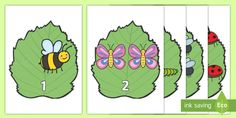 A set of sized numbers on minibeasts, numbers This resource can be used to hang up in the classroom or as number flashcards. Number Flashcards, Rainbow Fish, Free Teaching Resources, Preschool Lesson Plans, Numeracy, School Lessons, Pre School, Numbers, Activities