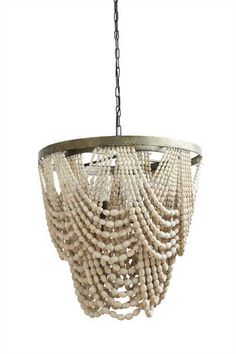 LOVELY LARGE AMELIA BOHO STYLE NATURAL BEADED WOOD PENDANT CHANDELIER   Home & Garden, Lamps, Lighting & Ceiling Fans, Chandeliers & Ceiling Fixtures   eBay!