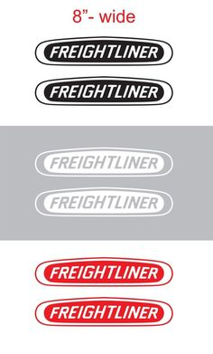 "2pcs 8"" FREIGHTLINER Vinyl Sticker Decal Graphic COLUMBIA CASCADIA SEMI TRUCK #Oracal"