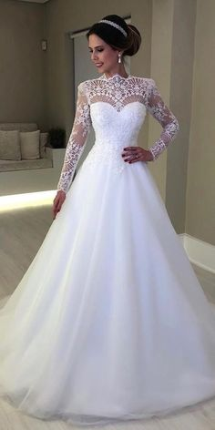 21 Illusion Long Sleeve Wedding Dresses You'll Like ❤ illusion long sleeve wedding dresses a line delicate lace sweetheart neckline isabelle ❤ wedding dresses bouquets 21 Illusion Long Sleeve Wedding Dresses You'll Like Ethereal Wedding Dress, Lace Wedding Dress With Sleeves, Top Wedding Dresses, Wedding Dress Trends, Long Sleeve Wedding, Bridal Dresses, Wedding Gowns, Bridesmaid Dresses, Antique Wedding Dresses