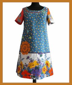 A line retro and original handmade dress  OOAK by Pscendrillon