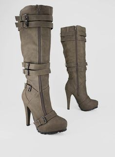 strappy double zip boot $45.95