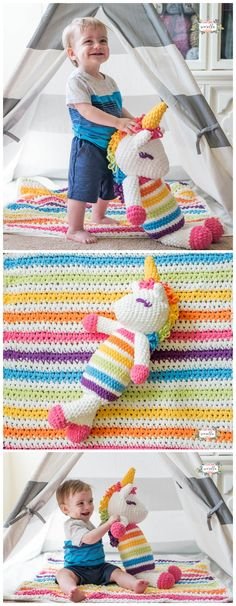 Here we have shared a grand list of free crochet amigurumi patterns that all makes perfect cuddly toys and can also be used as best lovey to your babies!Lola the Crochet Plushy Unicorn Crochet Heart Blanket, Crochet Baby Jacket, Crochet Baby Toys, Crochet Gifts, Cute Crochet, Crochet For Kids, Crochet Dolls, Knit Crochet, Crocheted Toys