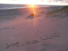 Am Strand von Hvide Sande in Dänemark... für  meinen Liebsten <3