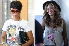 Rihanna Betty Boop Shirt; Beyonce Je t'aime Ice Cream Tank Top, Graphic Tee