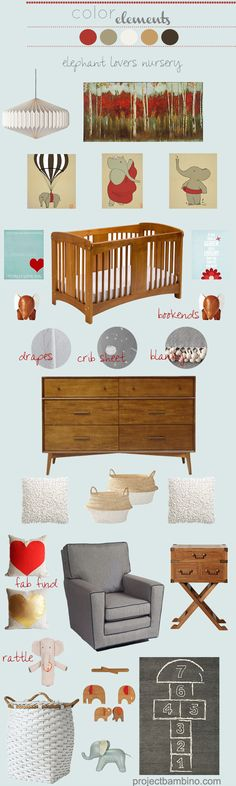 Love this elephant inspired nursery as an homage to Barbar; @Kristen Fields this site has fabulous inspiration!