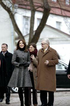 02 APRIL 2014  Crown Princess Mary Visit Estonia Crown Princess Mary is currently in Estonia for a official visit.
