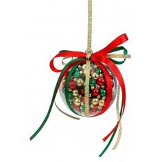 Nicole™ Crafts Red, Green and Gold Bubble Ornament