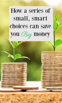 How a series of small smart choices can save you money Save Your Money, Ways To Save Money, Money Tips, Money Saving Tips, How To Make Money, Money Budget, Managing Money, Money Hacks, Money Savers