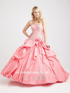 Ball Gown Sweetheart Sleeveless Satin Ball Gowns With Embroidery