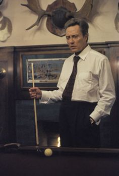 Christopher Walken playing Billiards on set. www.designerbilliards.co.uk