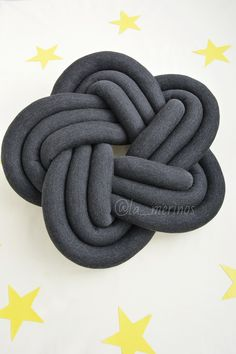 FREE SHIPPING, Star knot pillow, Dark gray pillow, Knot cushion, Decorative pillow, Home design, Modern pillow, Bedroom decor