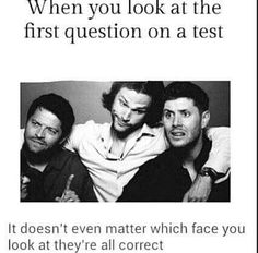 Haha I'm probably more Jensen, then Misha then Jared XD << I'm probably Jared.